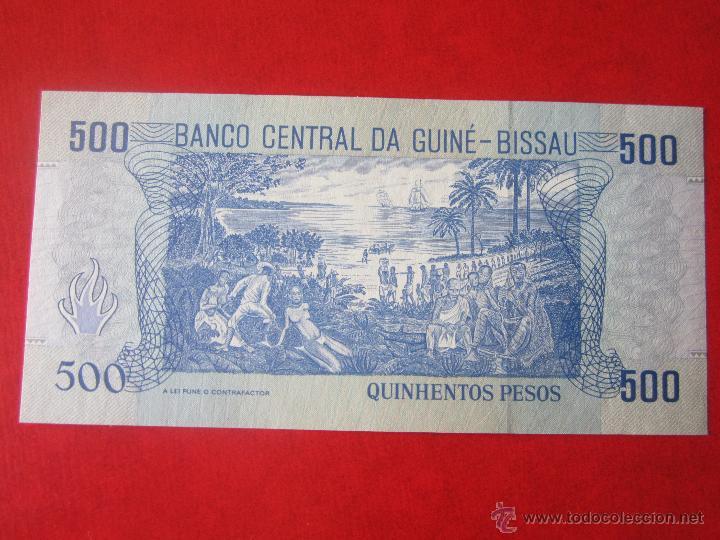 Billetes extranjeros: Guinea Bissau. 500 pesos. 1990 - Foto 2 - 50322877