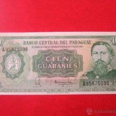 Billetes extranjeros: PARAGUAY. BILLETE DE 100 GUARANIES. 1952. Lote 50366376