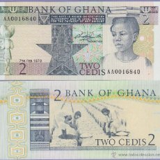 Billetes extranjeros: GHANA - 2 CEDIS - 7TH FEB. 1979 - S/C. Lote 90373400