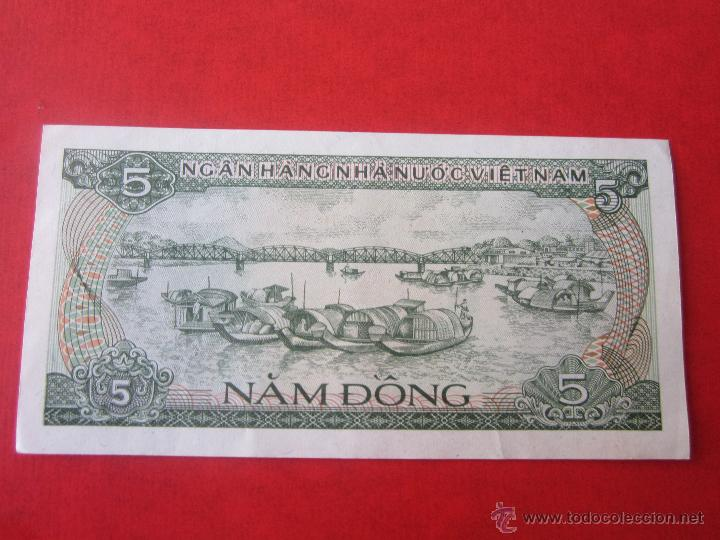 VIET-NAM. BILLETE DE 5 DONG. 1985 (Numismática - Notafilia - Billetes Extranjeros)