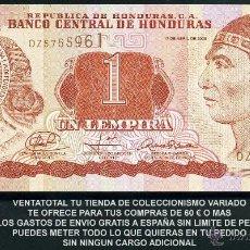 Billetes extranjeros: HONDURAS 1 LEMPIRA AÑO 2008 SC ( INDIO LEMPIRA BALIENTE ) Nº5. Lote 159157300