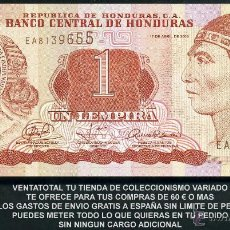 Billetes extranjeros: HONDURAS 1 LEMPIRA AÑO 2008 SC ( INDIO LEMPIRA BALIENTE ) Nº6. Lote 159152077