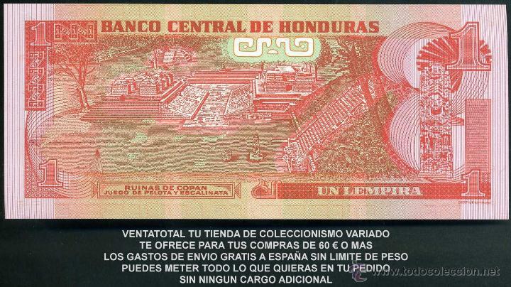Billetes extranjeros: HONDURAS 1 LEMPIRA AÑO 2008 SC ( INDIO LEMPIRA BALIENTE ) Nº6 - Foto 2 - 159152077