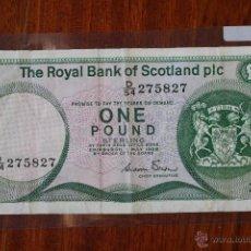Billetes extranjeros: BILLETE ROYAL BANK OF ESCOCIA, 1 LIBRA 1986 D/54275827. Lote 50882882