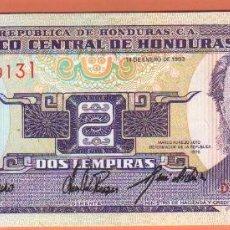 Billetes extranjeros: BONITO BILLETE DE 2 LEMPIRA DE HONDURAS DEL 1993 PLANCHA VER FOTO QUE NO TE FALTE EN TU COLECCION . Lote 50914071