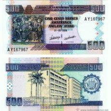 Billetes extranjeros: BURUNDI. PICK 45A. 500 FRANCS (2009). SC.. Lote 51471390