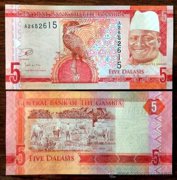 GAMBIA. 5 DALASIS 2015. S/C. (Numismática - Notafilia - Billetes Extranjeros)