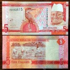 Billetes extranjeros: GAMBIA. 5 DALASIS 2015. S/C.. Lote 190935765