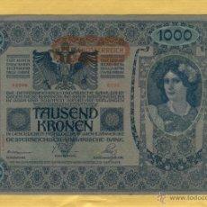 Billetes extranjeros: BILLETES 2 CONSECUTIVOS: TAUSEND KRONEN 1000-AUSTRIA-ENERO DE 1902-SERIE 2533-BILL.6. Lote 51710465