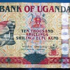 Billetes extranjeros: UGANDA BILLETE DE 10000 SHILLINGS DEL 2001 USADO. Lote 52016221
