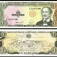 Billetes extranjeros: REPUBLICA DOMINICANA - 1 PESO ORO - AÑO 1988 - S/C. Lote 126065814