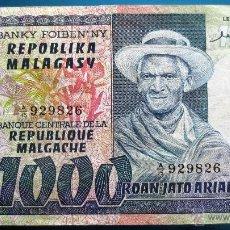 Billetes extranjeros: MADAGASCAR BILLETE DE 1000 ARIARY DE 1974 P-65A. Lote 52339517