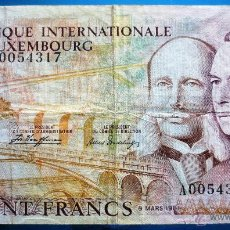 Billetes extranjeros: LUXEMBURGO BILLETE DE 100 FRANCOS DE 1981 P-14A. Lote 52339690