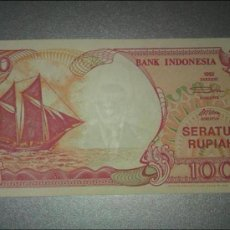 Billetes extranjeros: INDONESIA 100 RUPIAS 1992. Lote 179206900