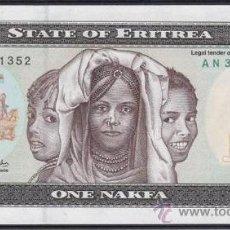 Billetes extranjeros: ERITREA 1 NAKFA 1997 SIN CIRCULAR. Lote 176671204