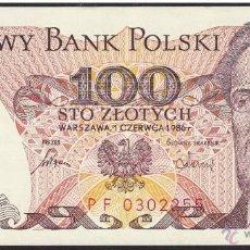 Billetes extranjeros: POLONIA 100 ZLOTYCH 1986 SIN CIRCULAR. Lote 176671145