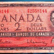 Billetes extranjeros: CANADA BILLETE DE 2 DOLLARS DE 1954 P-76B. Lote 52626511