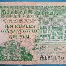 Billetes extranjeros - MAURITIUS BILLETE DE 10 RUPIAS DE 1985 - 52626592