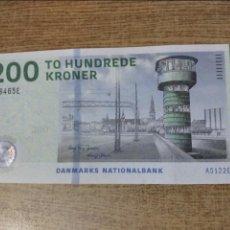 Billetes extranjeros: DINAMARCA 200 KRONER CORONAS 2009 SIN CIRCULAR. Lote 140449173