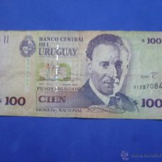 Billetes extranjeros: BILLETE 100 PESOS URUGUAYOS ( 01227084 SERIE C ). Lote 53033463