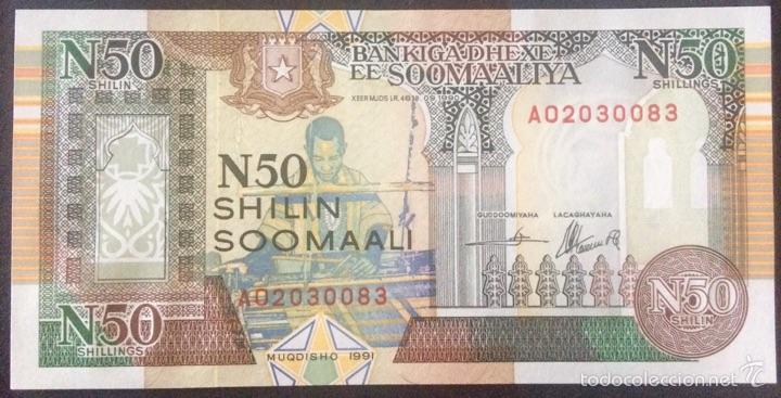 SOMALIA 50 CHELINES 1991 - PICK R2 S/C (Numismática - Notafilia - Billetes Extranjeros)