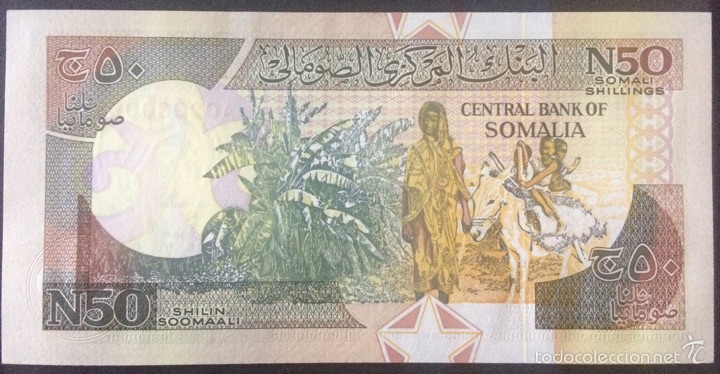 Billetes extranjeros: SOMALIA 50 CHELINES 1991 - PICK R2 S/C - Foto 2 - 53147085