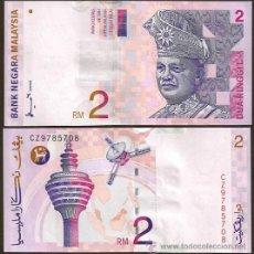 Billetes extranjeros: MALASIA (MALAYSIA). 2 RINGGIT 1996-1999. PICK 40. S/C.. Lote 293894388