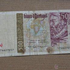 Billetes extranjeros: PORTUGAL, 500 ESCUDOS 1997. Lote 53315147