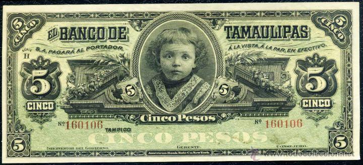 5 PESOS DE TAMAULIPAS (MEJICO) SIN CIRCULAR (Numismática - Notafilia - Billetes Extranjeros)