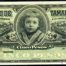 Billetes extranjeros: 5 PESOS DE TAMAULIPAS (MEJICO) SIN CIRCULAR. Lote 53340476