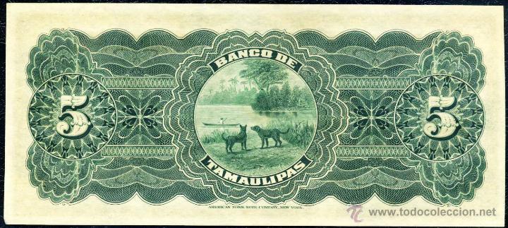 Billetes extranjeros: 5 Pesos de Tamaulipas (Mejico) Sin Circular - Foto 2 - 53340476