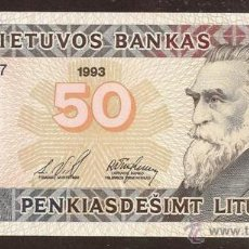 Billetes extranjeros: LITUANIA. 50 LITU 1993. PICK 58. S/C.. Lote 53651735