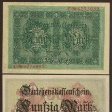 Billetes extranjeros: ALEMANIA. 50 MARK 5.8.1914. PICK 49 B. S/C.. Lote 53736564