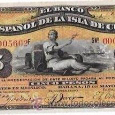 Billetes extranjeros: BILLETE DE 5 PESOS. 1896. BANCO ESPAÑOL DE LA ISLA DE CUBA. SIN CERTIFICADO PLATA.. Lote 53905886