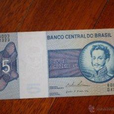 Billetes extranjeros: BRASIL, 5 CRUZEIROS SC. Lote 53951750