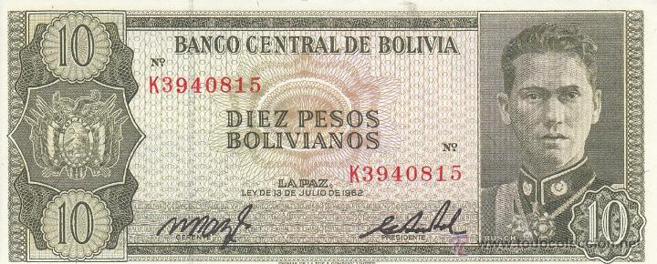 0103 BILLETE BOLIVIA (Numismática - Notafilia - Billetes Extranjeros)