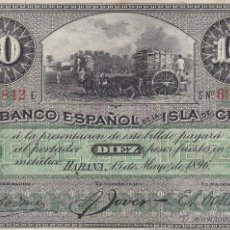 Billetes extranjeros: 0125 BILLETE CUBA ESPAÑOL. Lote 54180263