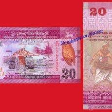 Billetes extranjeros: SRI LANKA 20 RUPIAS 2010 2011 PICK 123 - SC. Lote 237298575