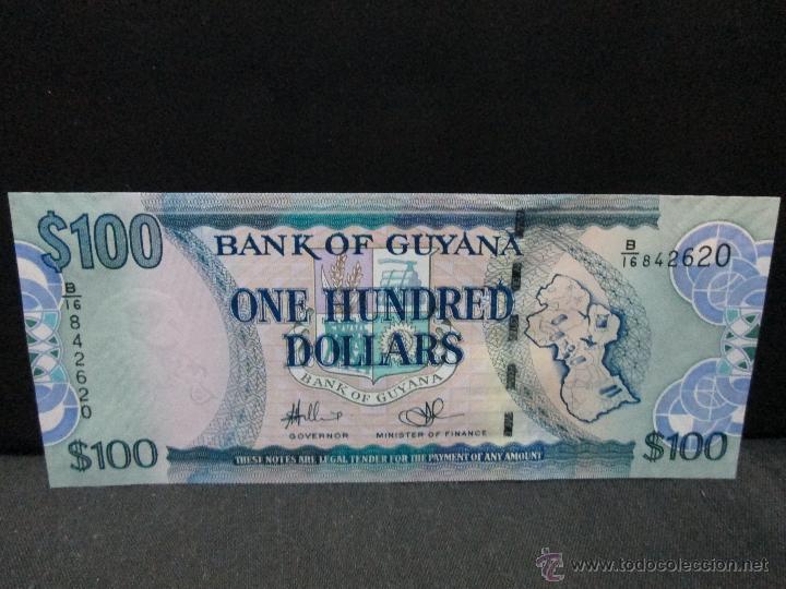 100 DOLLARS GUAYANA SC (Numismática - Notafilia - Billetes Internacionales)