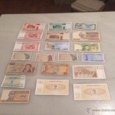 Billetes extranjeros: ANTIGUA COLECCIÓN DE DIFERENTES BILLETES ANTIGUOS DEL MUNDO ( VARIOS PAISES). Lote 54725549