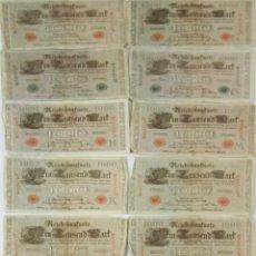 Billetes extranjeros: BI-049 - LOTE DE 13 BILLETES DE 1000 MARCOS ALEMANES. 1910.. Lote 50350866