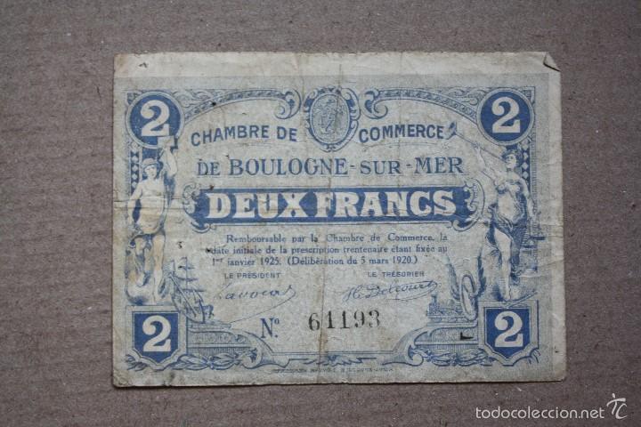 francia chambre du commerce de boulogne sur mer 2 francos