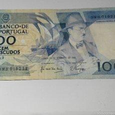 Billetes extranjeros: BILLETE 100 ESCUDOS PORTUGAL. 1988. Lote 55141108