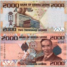 Billetes extranjeros: SIERRA LEONA 2000 LEONE 2010 UNC P-31. Lote 194288325