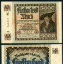 Billetes extranjeros: ALEMANIA 5000 MARKOS AÑO 1922 SC SERIE Z ( HOMBRE COMERCIANTE ) Nº9. Lote 162641761