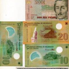 Billetes extranjeros: LOTE 5 BILLETES BRASIL, COLOMBIA Y NICARAGUA. PESOS, CORDOBAS Y CRUZEIRO. VER FOTOS. Lote 55304672