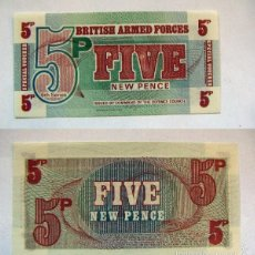 Billetes extranjeros: BILLETE BRITISH ARMED FORCES FIVE NEW PENCE PLANCHA. Lote 55324830