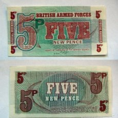 Billetes extranjeros: BILLETE BRITISH ARMED FORCES FIVE NEW PENCE PLANCHA. Lote 55324833