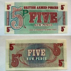 Billetes extranjeros: BILLETE BRITISH ARMED FORCES FIVE NEW PENCE PLANCHA. Lote 55324836