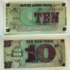 Billetes extranjeros: BILLETE BRITISH ARMED FORCES TEN NEW PENCE PLANCHA. Lote 55324864